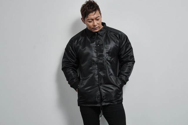 coach jacket with boa lining(BLACK)