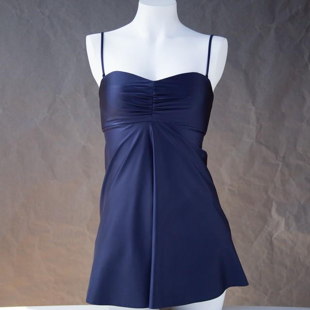 SWIM SWD002 カップ付きドレス Navy Blue