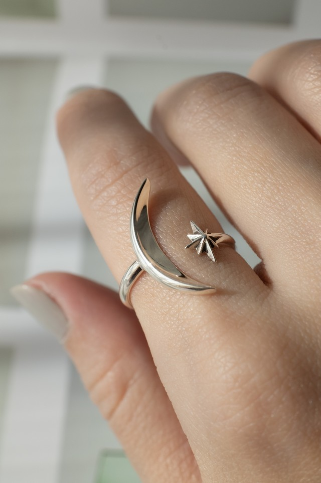 MOON x STAR Open Ring - 004