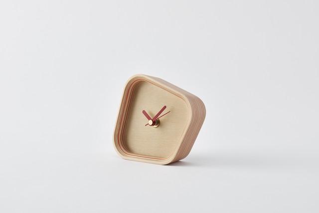 rotation-orange(再生紙合板×置き時計)