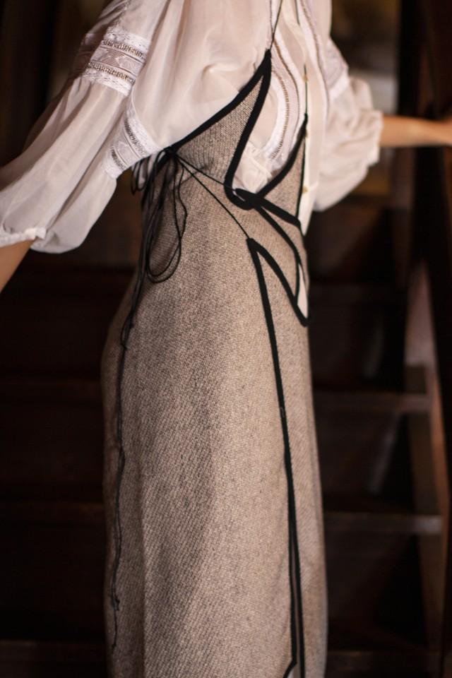 【追加予約】LENO-CLOTH WRAP APRON