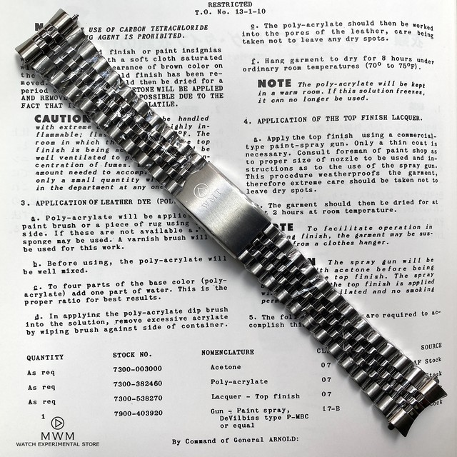 【for NEW CASE】WMT WATCH 5-Link BRACELET MB11903823N (for NEW CASE only)