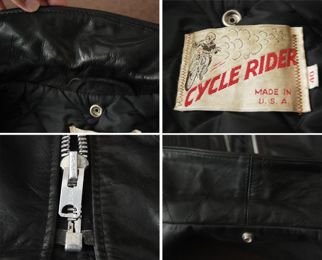 "70s Schott ""CYCLE RIDER"" Wライダース 40"