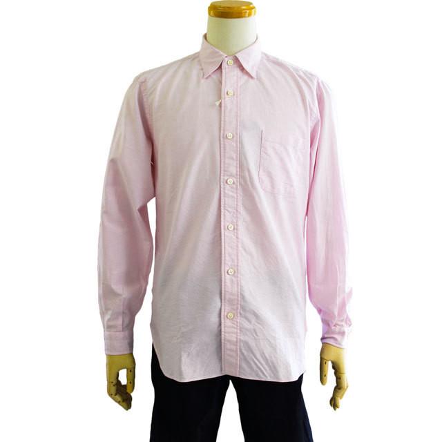 FUJITO (フジト )  オックスフォード 隠しBDシャツ WF1-S12  -PINK-