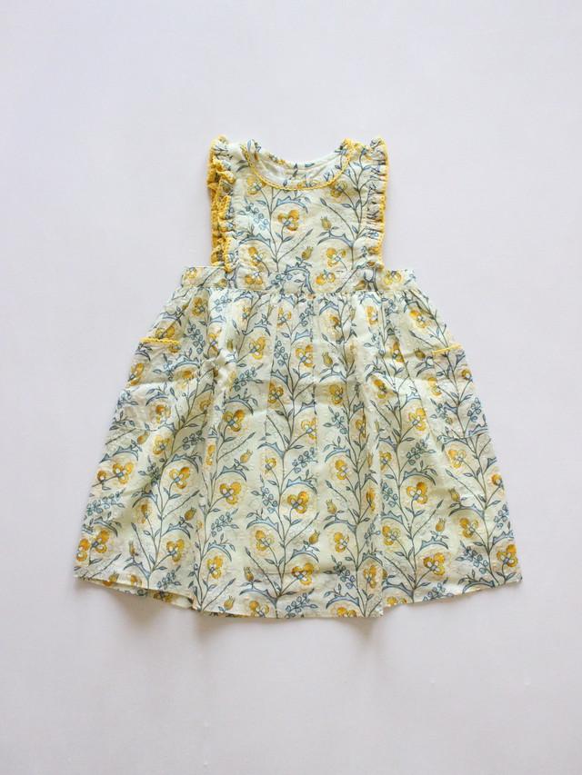 Lali  Clover dress mustard wallpaper  Drop1