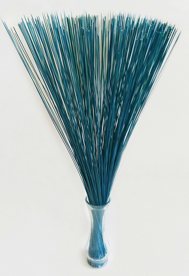 【イ草フラワー ライトブルー】Rush Grass Flower Light Blue 70cm