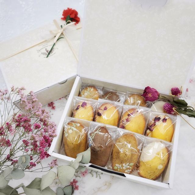 【4/25~4/30 お届け】お花のマドレーヌギフト12個入 【4/9~4/18 予約受付】
