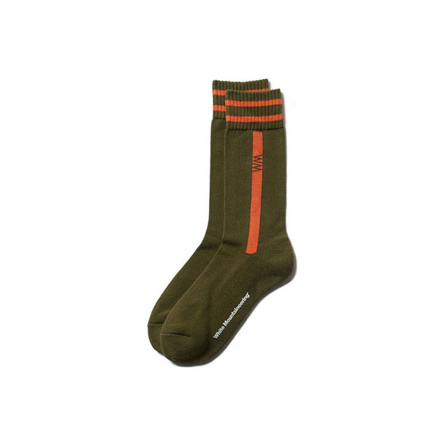 WM LOGO MIDDLE SOCKS - GREEN