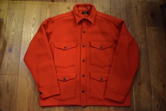 USED L.L.Bean 50s エルエルビーン ウールマッキーノジャケット 赤 黒タグ 筆記体