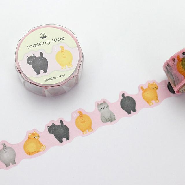 【猫】ねこのおしりマスキングテープ ダイカット【マステ】【94215】