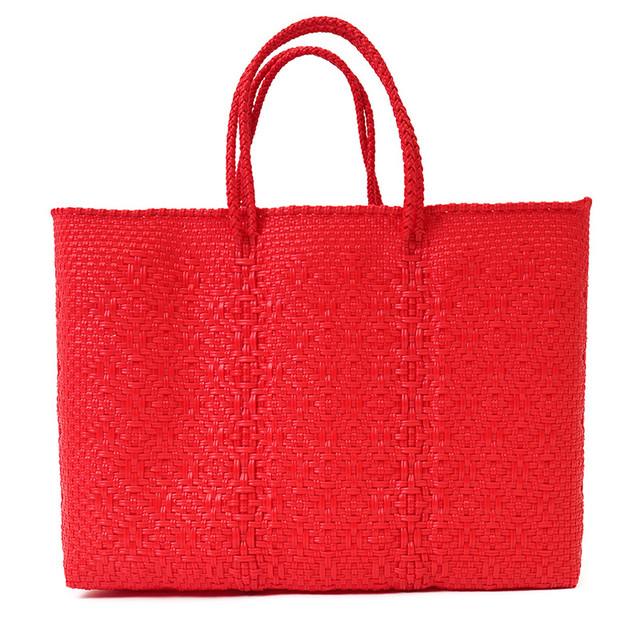 MERCADO BAG ROMBO - Red (L)