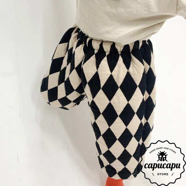 «sold out» ひし形 パターン pants
