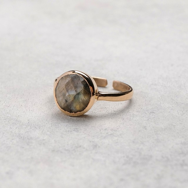 SINGLE STONE ADJUSTABLE RING 021
