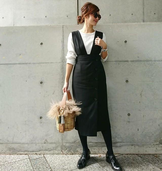 KU-UM×yuko,natsu,junko 2WAYジャンパースカート ブラック