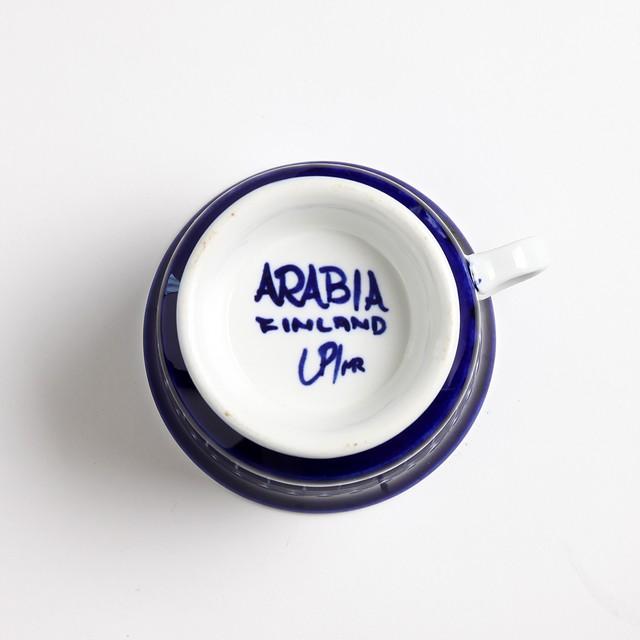 ARABIA アラビア Valencia バレンシア 100mmティーカップ&ソーサー - 29 北欧ヴィンテージ