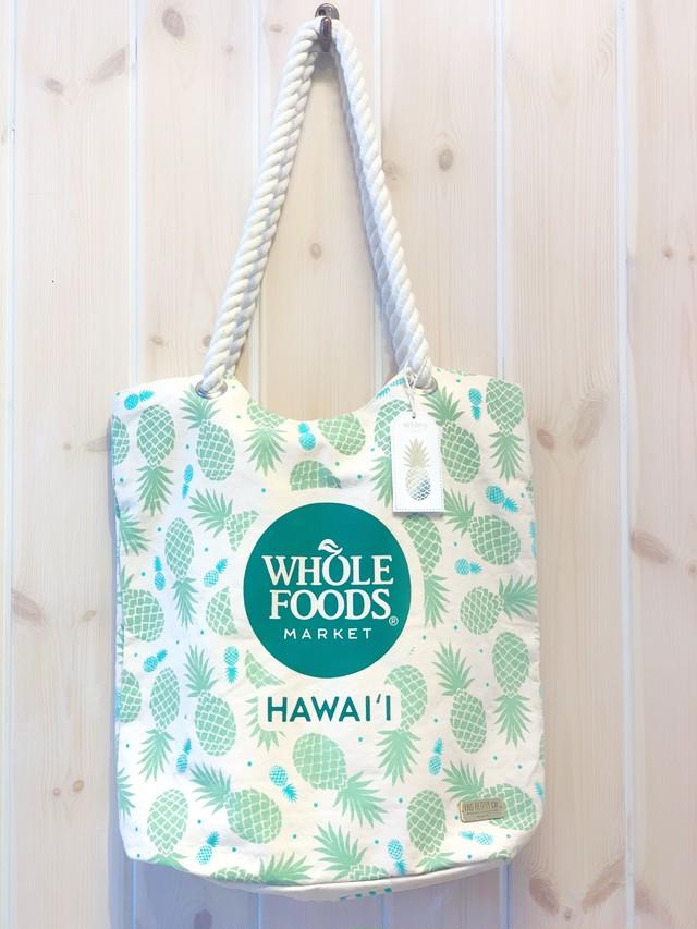 ハワイ限定商品を安心の国内配送で!【Whole Foods Market/ホールフーズ マーケット】オーガニックトートバッグ
