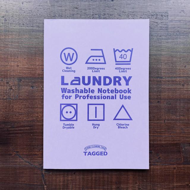 洗えるA5耐洗紙ランドリーノート(ラベンダー)