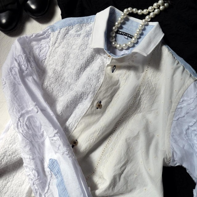パーツブロッキング レギュラーシャツ