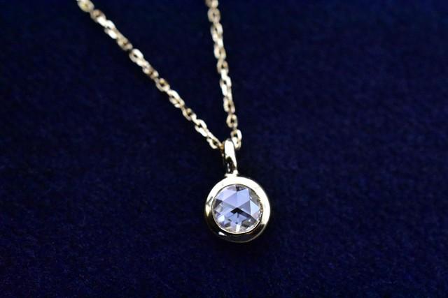 ローズカットダイヤモンド リング   0.177ct / F / VS2  /  K18YG