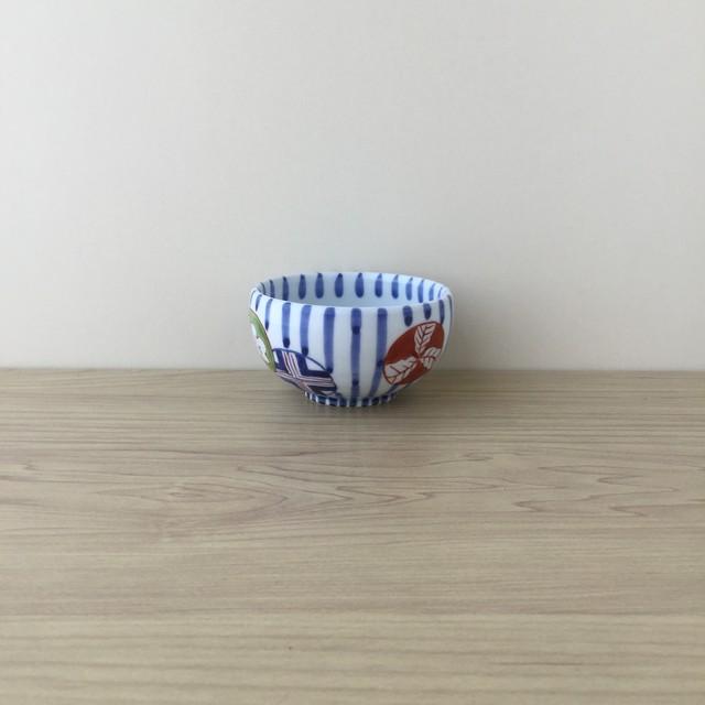 【有田焼】染錦丸紋濃十草 小鉢