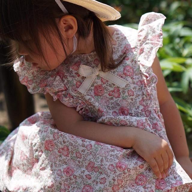 【受注生産】ラッフルカラ―ワンピース 80,90,100㎝