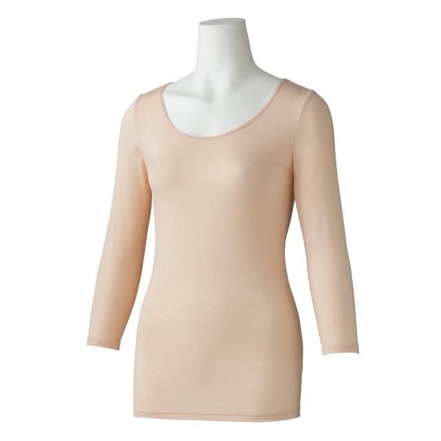 婦人 ウォームモイストインナー セルティス薄 8分袖 (ベージュ) 4994403