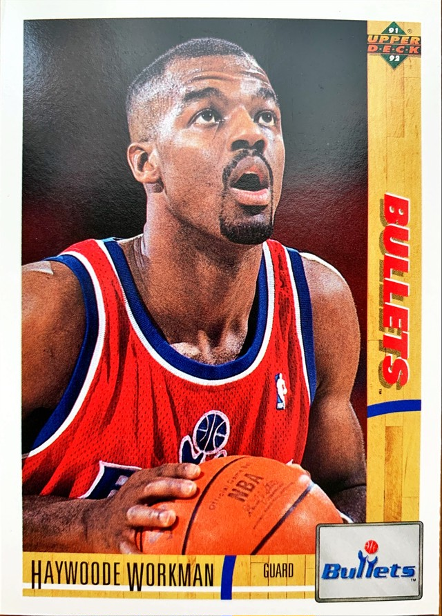 NBAカード 91-92UPPERDECK Haywoode Workman #330 BULLETS