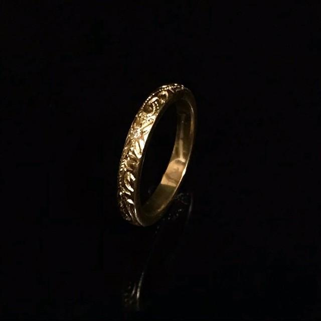 Hawaiian jewelry ring(細 石付き)