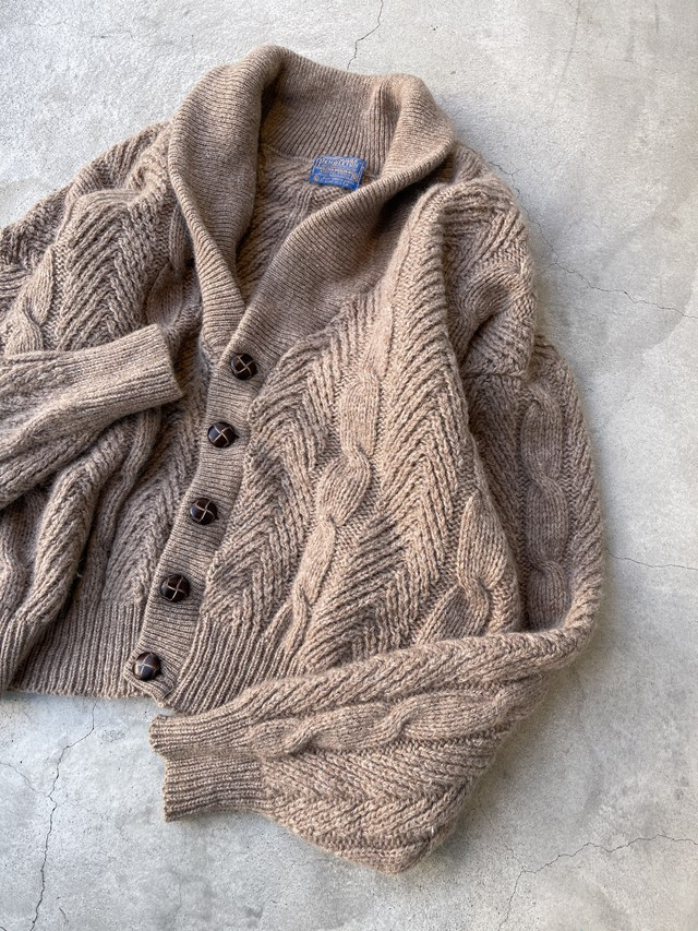 "made in USA ""pendleton"" vintage wool knit cardigan"