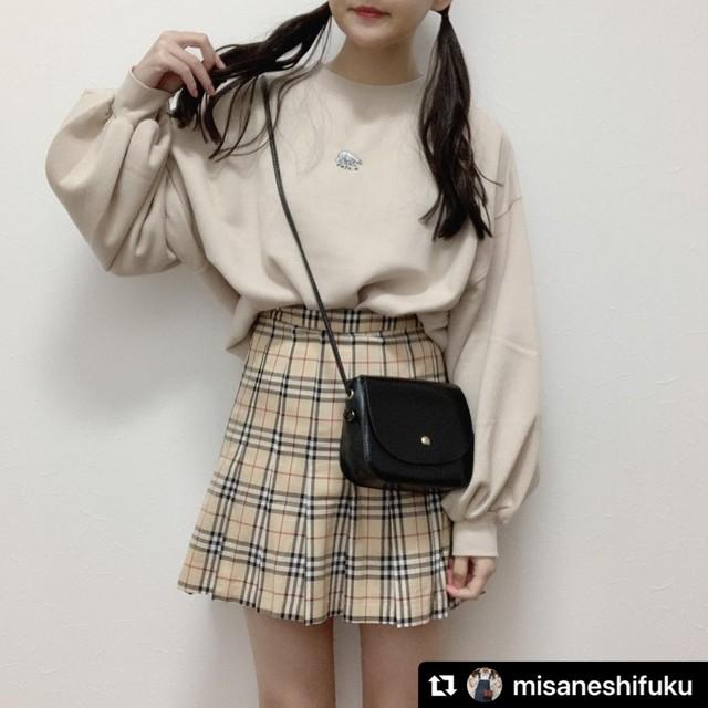 【数量限定】misane様着用♪ 即納!オリジナル改良版♡ ショートパンツ入り チェック柄ミニスカート ♡