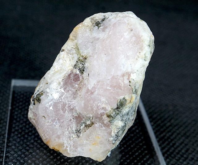 自主採掘! モルガナイト + グリーントルマリン 41,3g MN016 原石 天然石 非加熱 モルガン石 鉱物 パワーストーン