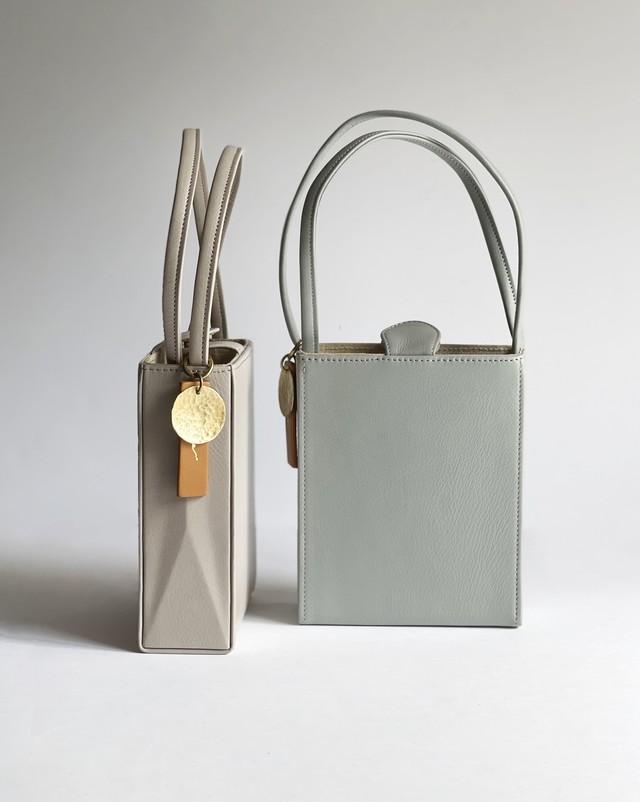 box bag -pink gray / blue gray-
