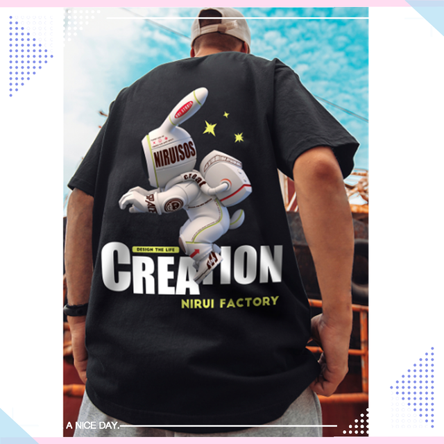 【トップス】男女兼用欧米風半袖ストリート系カジュアルinstagram人気オーバーサイズシャツ