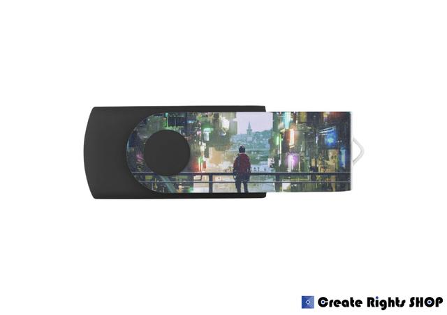 オリジナルスイベルUSBフラッシュメモリ(8GBモデル)016