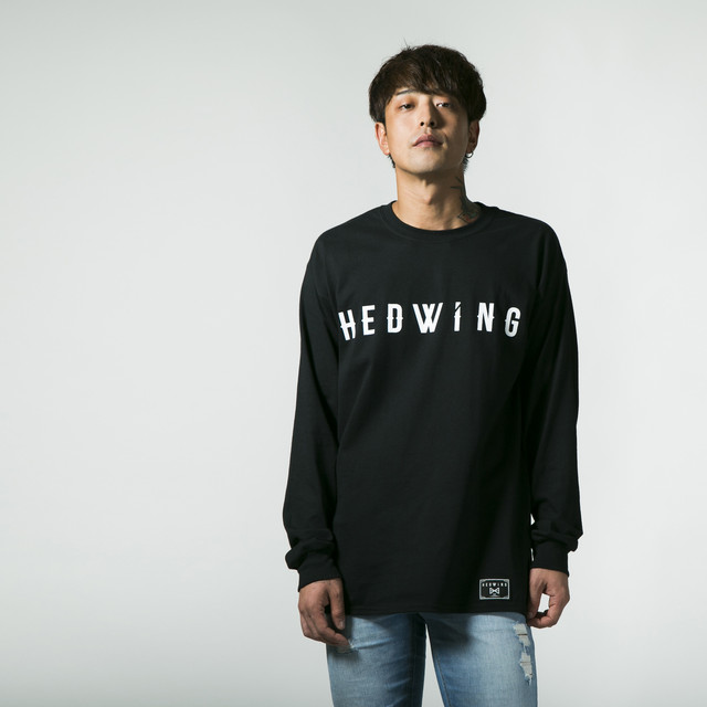 Simple logo Long sleeve T-shirt Black