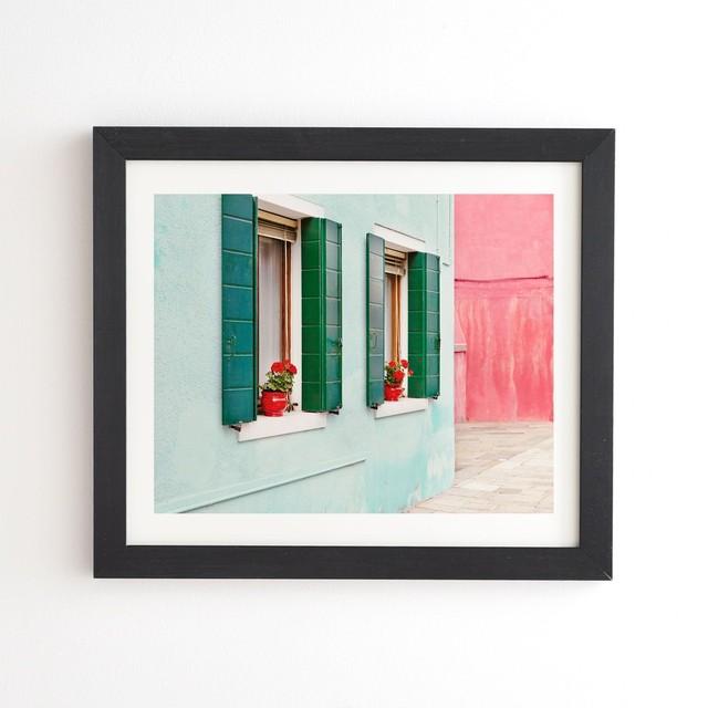 フレーム入りアートプリント -BURANO PASTELS ITALY BY EYE POETRY PHOTOGRAPHY【受注生産品: 7月中旬入荷分 オーダー受付中】