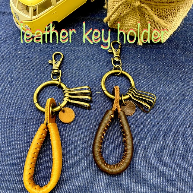leather Key holder 4連 キーリング キーケース 皮 レザー
