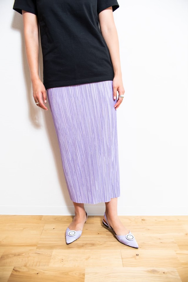 pleats straight sk