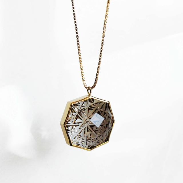 Smoky Quartz KIRIKO Necklace (Octagon)
