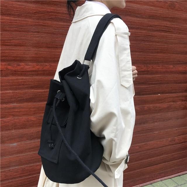 Canvas fabric shoulder bag(キャンバスファブリックショルダーバッグ)a-096