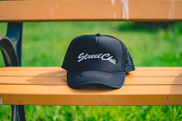 Mesh cap [Black]  Leaves - StreetChic