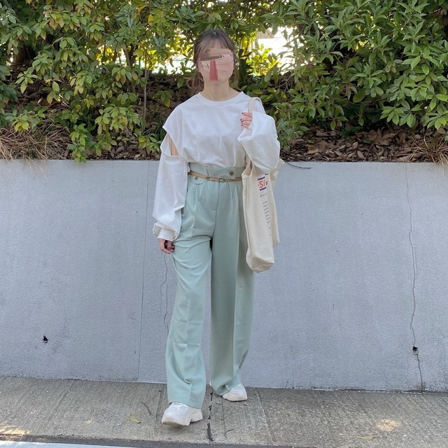 mint green pants[2102-29]