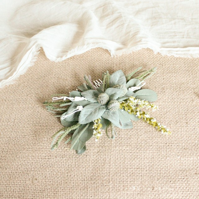 """Hair ornament for """"Cactus green Bouquet """""""