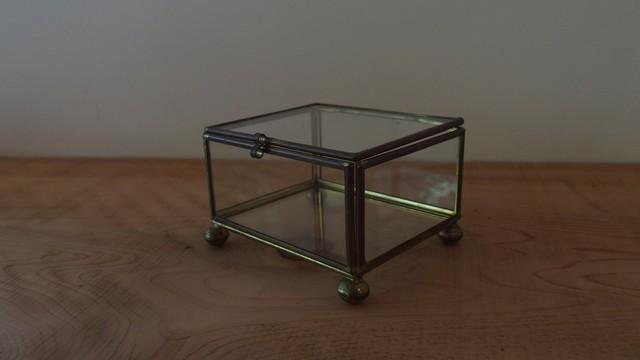 ヴィンテージ ガラス製箱