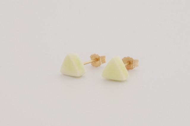 [磁器/silver925 ピアス] 陶磁器ジュエリー / object / スタッドピアス /  cube