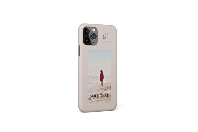あなたの写真で作るオリジナルiPhoneケースF / 多機種対応可 / 文字色・ケース色変更可
