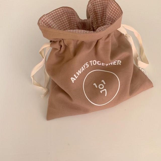 [OPT-03] 1107ロゴ巾着ポーチ
