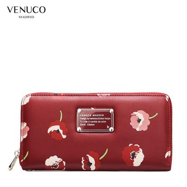 new arrival a9fcb 04472 VENUCO R04W71 花柄 長財布 (レディース / CHREEY RED / 花柄 / 赤 ) [在庫有り]ベヌコ マドリード ブランド財布  | VENUCO MADRID JAPAN powered by BASE