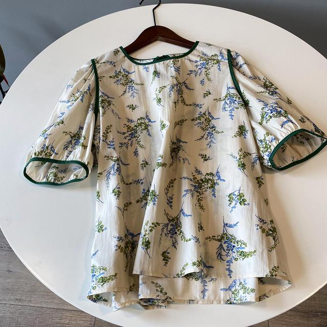 Retro print blouse KRE887