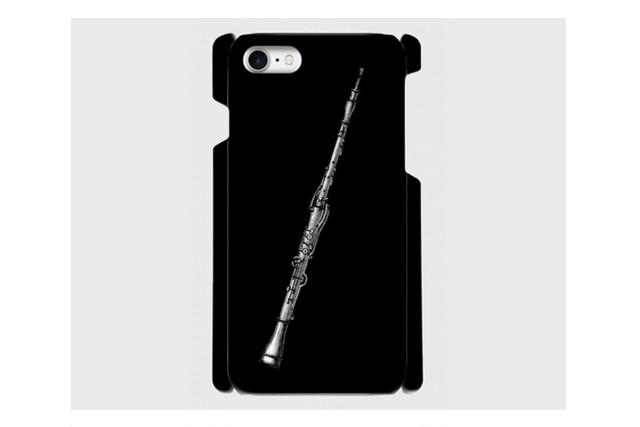 (iPhone用)オーボエのスマホケース(黒)